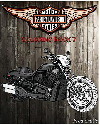 Motor: Harley-Davidson Coloring Book 7: coloring book Cover Image