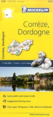Michelin France: Corrèze, Dordogne Map 329 (Maps/Local (Michelin)) Cover Image