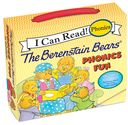 The Berenstain Bears 12-Book Phonics Fun!: Includes 12 Mini-Books Featuring Short and Long Vowel Sounds (My First I Can Read) Cover Image