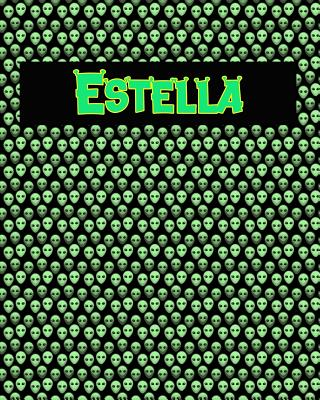 120 Page Handwriting Practice Book with Green Alien Cover Estella: Primary Grades Handwriting Book Cover Image