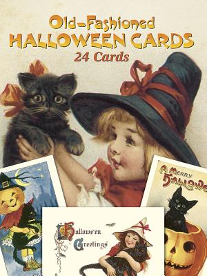 Old-Fashioned Halloween Cards: 24 Cards (Dover Postcards) Cover Image