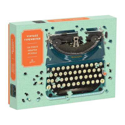 Vintage Typewriter 750 Piece Shaped Puzzle Cover Image