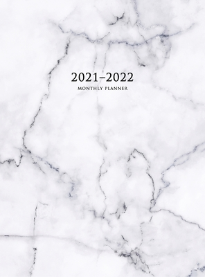 2021-2022 Monthly Planner: Large Two Year Planner with Marble Cover (Volume 5 Hardcover) Cover Image
