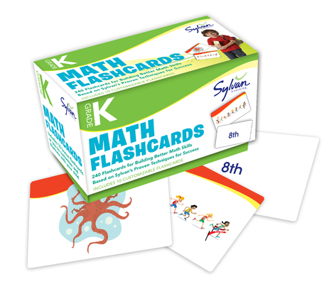 Kindergarten Math Flashcards: 240 Flashcards for Building Better Math Skills (Number 1-20, Ordinal Numbers, Number Patterns, Comparing & Classifying, Geometry, Location, Size) (Sylvan Math Flashcards) Cover Image