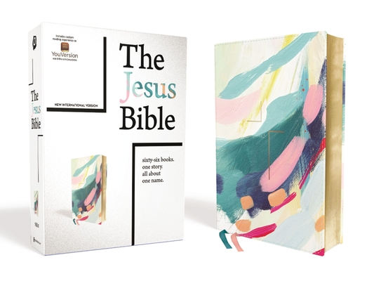 The Jesus Bible, NIV Edition, Leathersoft, Multi-Color/Teal, Comfort Print Cover Image