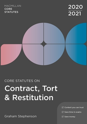 Core Statutes on Contract, Tort & Restitution 2020-21 Cover Image