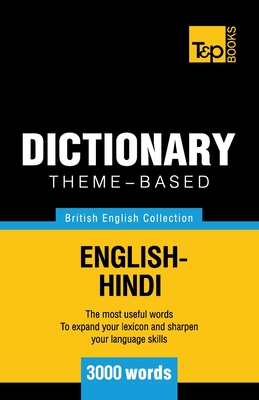Theme-based dictionary British English-Hindi - 3000 words Cover Image