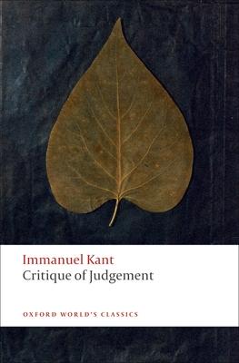 Critique of Judgement (Oxford World's Classics) Cover Image