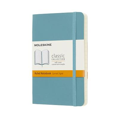 Moleskine Classic Notebook, Pocket, Ruled, Blue Reef, Soft Cover (3.5 x 5.5) Cover Image