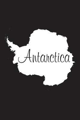 Antarctica - Black 101 - Lined Notebook with Margins - 6x9: 101 Pages, Medium Ruled, 6 X 9 Journal, Soft Cover Cover Image