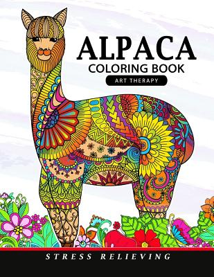 Alpaca Coloring Book: Animal Adults Coloring Book Cover Image