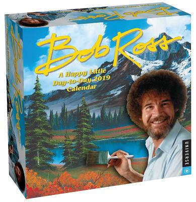 Bob Ross: A Happy Little Day-to-Day 2019 Calendar Cover Image