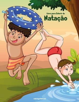 Livro para Colorir de Natação Cover Image