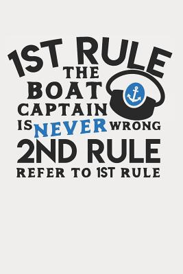 1st Rule Boat Captain Is Never Wrong 2nd Rule Refer to the 1st Rule: 120 Pages College Ruled Cover Image