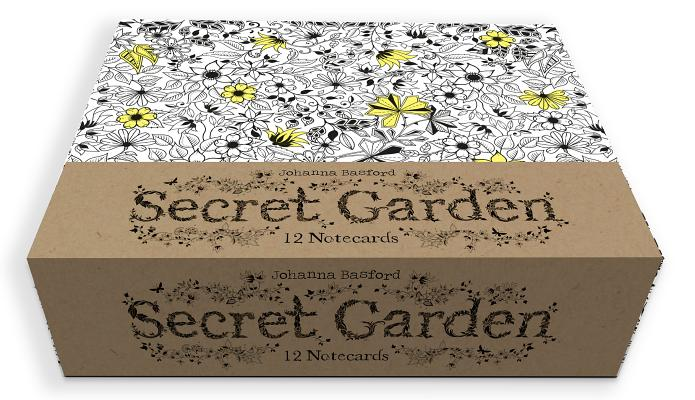 Secret Garden 12 Notecards Cover Image By Johanna Basford