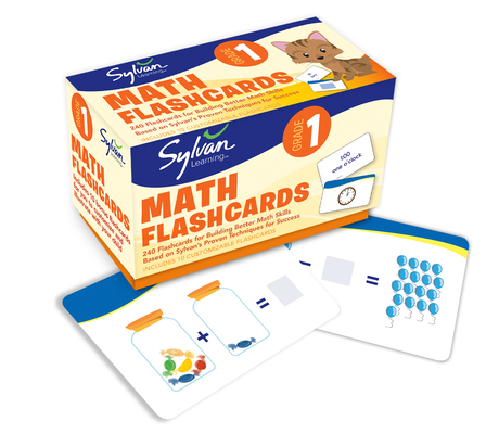 1st Grade Math Flashcards: 240 Flashcards for Building Better Math Skills Based on Sylvan's Proven Techniques for Success (Sylvan Math Flashcards) Cover Image
