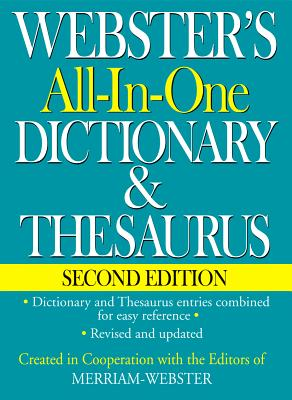 Webster's All-In-One Dictionary & Thesaurus, Second Edition Cover Image