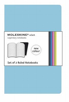 Moleskine Volant Notebook (Set of 2 ), Large, Ruled, Blue (5 x 8.25) (Volant Notebooks) Cover Image