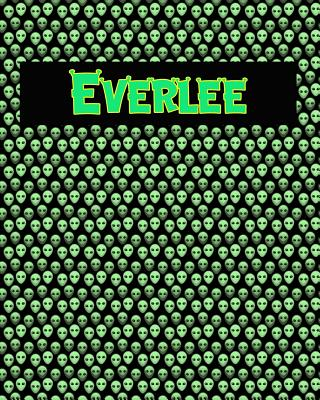 120 Page Handwriting Practice Book with Green Alien Cover Everlee: Primary Grades Handwriting Book Cover Image