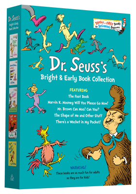 Dr. Seuss Bright & Early Book Collection: The Foot Book; Marvin K. Mooney Will You Please Go Now!; Mr. Brown Can Moo! Can You?, The Shape of Me and Other Stuff; There's a Wocket in My Pocket! (Bright & Early Books(R)) Cover Image