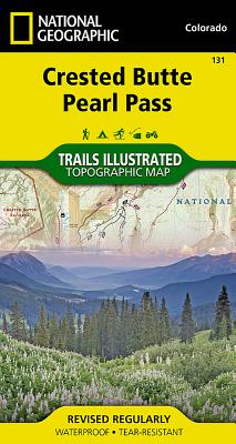 Crested Butte, Pearl Pass (National Geographic Trails Illustrated Map #131) Cover Image
