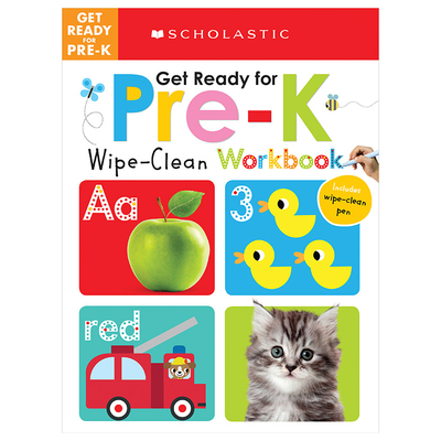 Get Ready for Pre-K Wipe-Clean Workbook: Scholastic Early Learners (Wipe-Clean Workbook) Cover Image