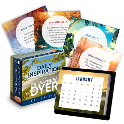 Daily Inspiration from Dr. Wayne Dyer 2021 Calendar Cover Image