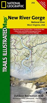New River Gorge National River (National Geographic Trails Illustrated Map #242) Cover Image