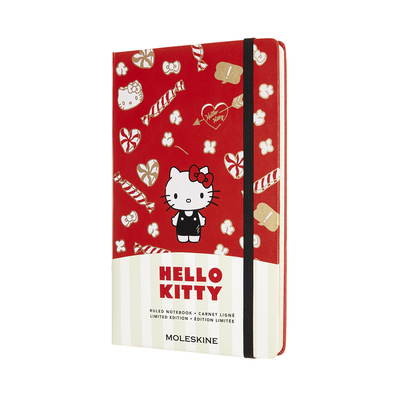 Moleskine Limited Edition Hello Kitty Notebook, Large, Ruled, Red, Hard Cover (5 x 8.25) Cover Image