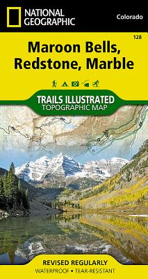 Maroon Bells, Redstone, Marble (National Geographic Trails Illustrated Map #128) Cover Image