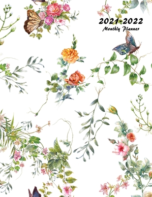 2021-2022 Monthly Planner: Large Two Year Planner with Beautiful Coloring Pages (Volume 3) Cover Image