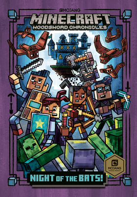 Night of the Bats! (Minecraft Woodsword Chronicles #2) (A Stepping Stone Book(TM)) Cover Image