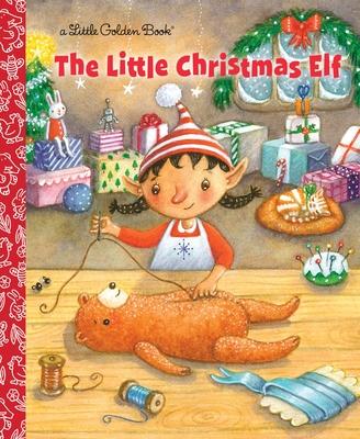 The Little Christmas Elf (Little Golden Book) Cover Image