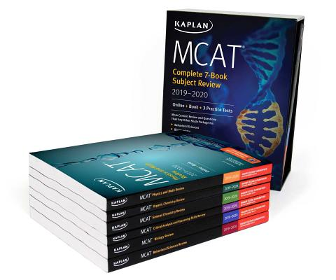 MCAT Complete 7-Book Subject Review 2019-2020: Online + Book + 3 Practice Tests (Kaplan Test Prep) Cover Image
