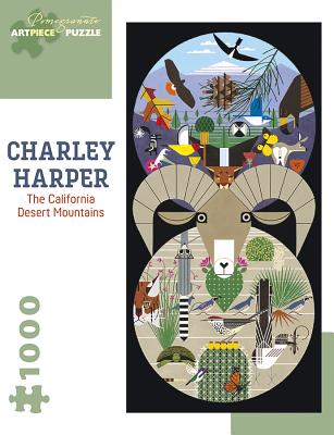 Charley Harper: The California Desert Mountains 1000-Piece Jigsaw Puzzle Cover Image