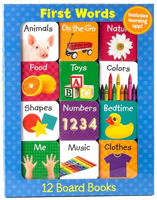 First Words (12 Book Set & Downloadable App!) (Early Learning) Cover Image