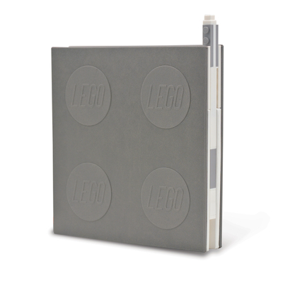 Lego 2.0 Locking Notebook with Gel Pen - Grey Cover Image