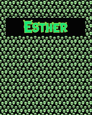 120 Page Handwriting Practice Book with Green Alien Cover Esther: Primary Grades Handwriting Book Cover Image