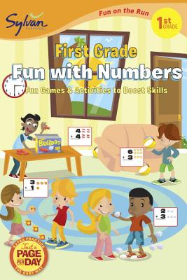 First Grade Fun with Numbers (Sylvan Fun on the Run Series) Cover