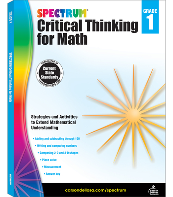 Spectrum Critical Thinking for Math, Grade 1 Cover Image