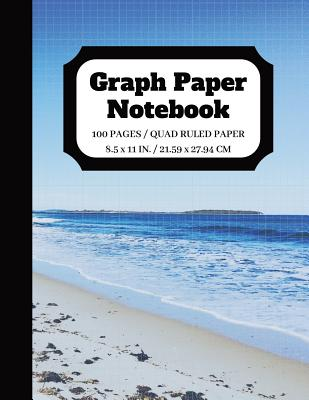 Graph Paper Notebook: Squared Graphing Paper - Quad Ruled - 5 squares per inch - 100 pages - 8.5 x 11 in. Cover Image
