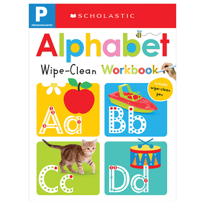 Pre-K Alphabet Wipe-Clean Workbook: Scholastic Early Learners (Wipe-Clean) Cover Image