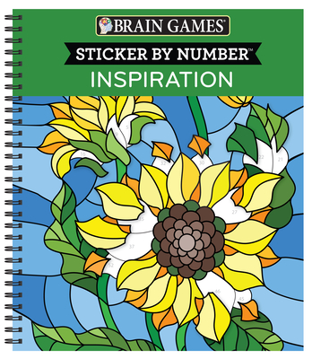 Brain Games - Sticker by Number: Inspiration [With Sticker(s)] Cover Image
