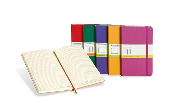 Moleskine Classic Notebook, Large, Squared, Brilliant Violet, Hard Cover (5 X 8.25) Cover Image