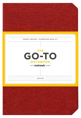 Go-To Notebook with Mohawk Paper, Brick Red Dotted: (Dotted Notebook, Notebook with Dots, Red Notebook) Cover Image
