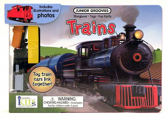 Trains Board Book [With Train Cars] Cover Image