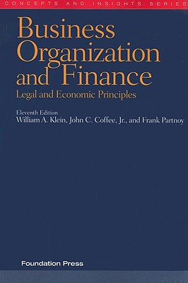 Business Organization and Finance: Legal and Economic Principles Cover Image