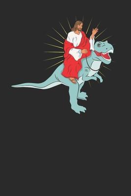 Lustiges Christen Dinosaurier Notizbuch: Din A5 I Liniert I 120 Seiten I Zum selber gestalten Cover Image