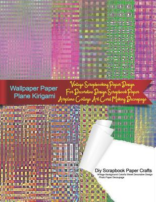 Wallpaper Paper Plane Kirigami Diy Scrapbook Paper Crafts Vintage Background Colorful Sheet Decorative Design Photo Paper Decoupage: Vintage Scrapbook Cover Image