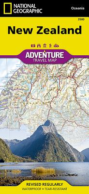 New Zealand (National Geographic Adventure Map #3500) Cover Image